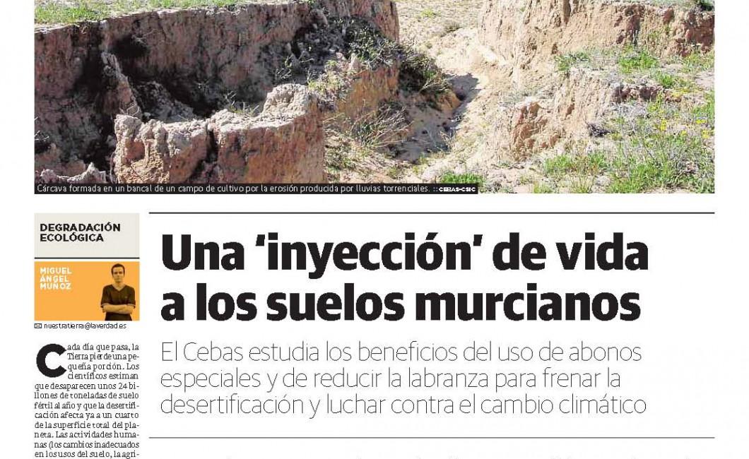 Una 'inyección' de vida a los suelos murcianos